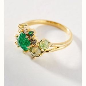 Anthropologie  Green May Birthstone Ring 6